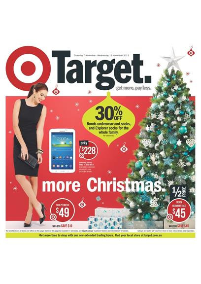 Target Catalogue Christmas Tree and Clothings 2013