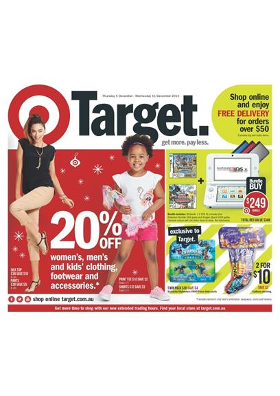 Target Catalogue December Christmas 2013