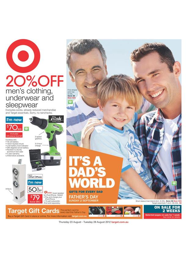 Target Catalogue - It is A Dad s World August 2012