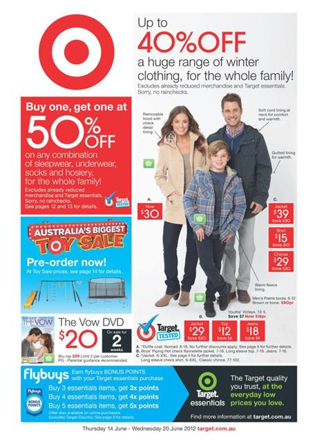 Target Catalogue - In June with great Deduction on Winter Clothing