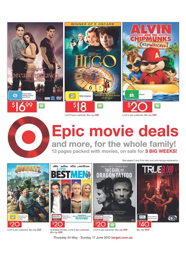 Target Catalogue - Epic Movie Deals
