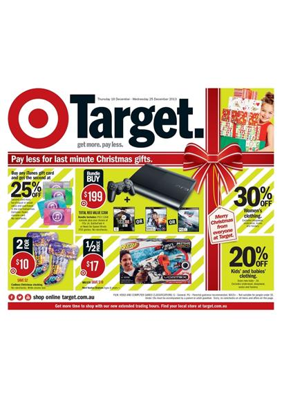 Target Christmas Catalogue Game Consoles