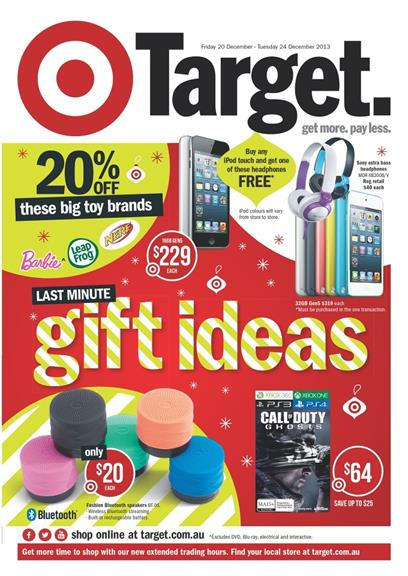 Target Christmas Catalogue Last Minute Gift Ideas