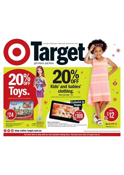Target Clothing Catalogue Deals Christmas December 2013