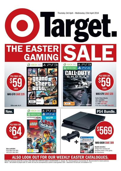 Target Easter Entertainment Game Sale
