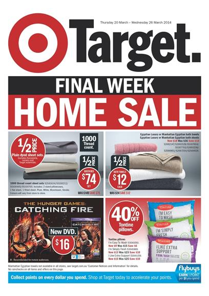 Target Home Sale Last Chance March 2014
