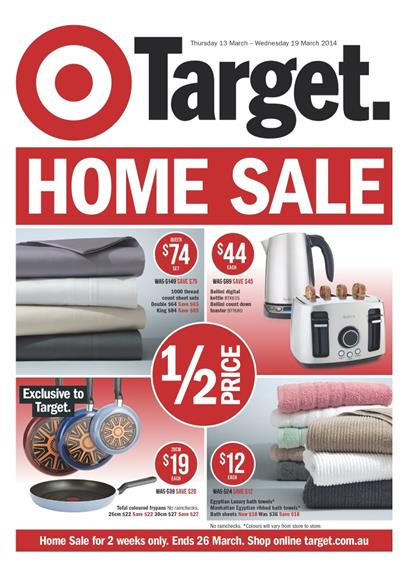 Target Home Sale March Catalogue Deals