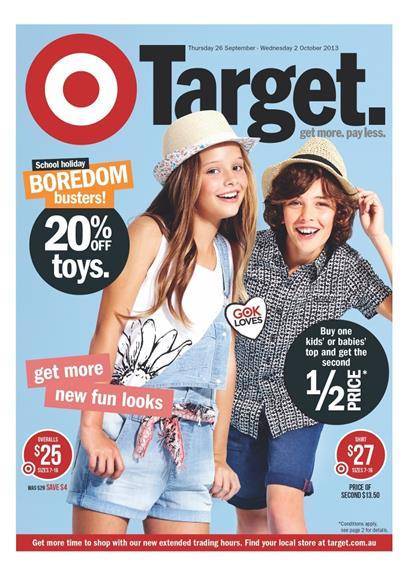 Target Kids Clothing Catalogue with Toy Sale