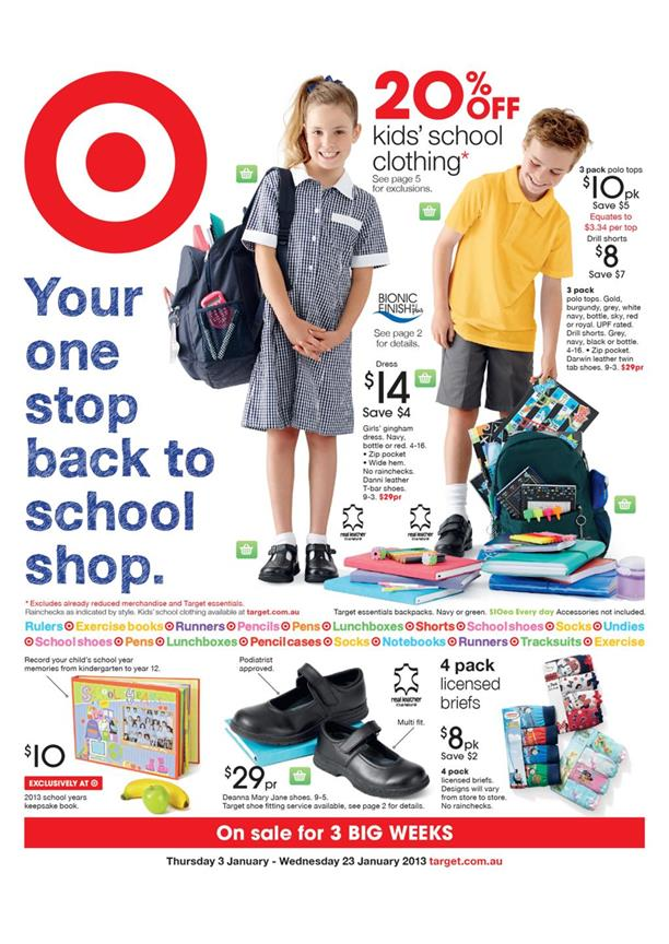 Target Catalogue - Your One Stop Back To School Shop